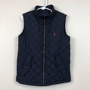 Polo Ralph Lauren Boy's 5 Navy Quilted Vest